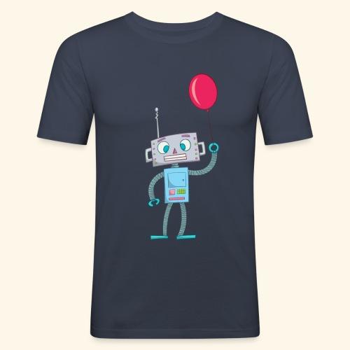 Cute Robot Kids Tees - Men's Slim Fit T-Shirt