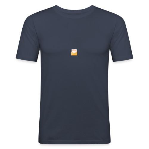 brev t-shirt - Slim Fit T-shirt herr