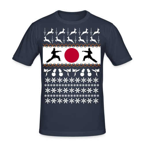Karate Christmas Jumper - Men's Slim Fit T-Shirt