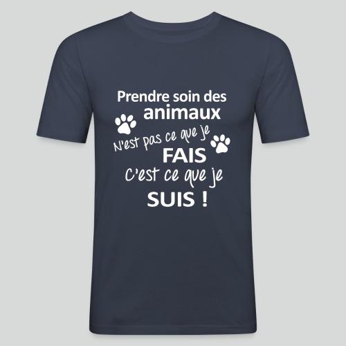 Prendre Des Soins Des Animaux - T-shirt près du corps Homme