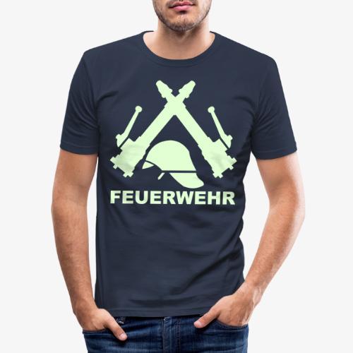 Feuerwehr C Rohr - Männer Slim Fit T-Shirt