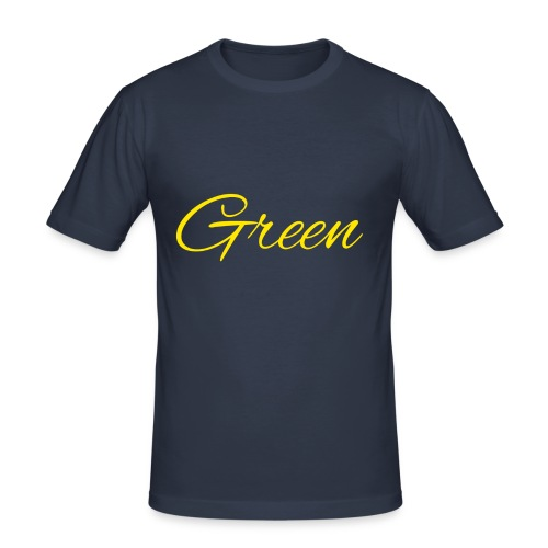 Green - Mannen slim fit T-shirt