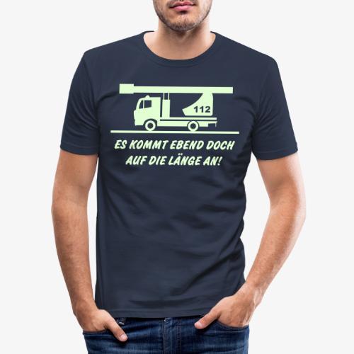Es kommt auf die Länge an! - Männer Slim Fit T-Shirt