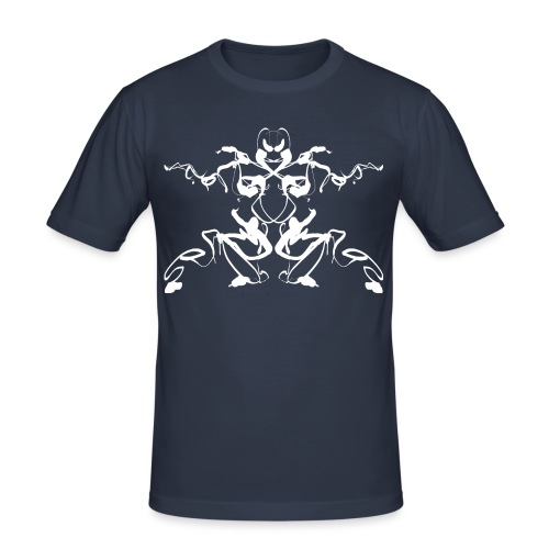 Rorschach test of a Shaolin figure Tigerstyle - Men's Slim Fit T-Shirt