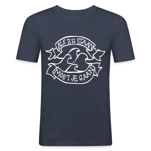 Als ze staan moet je gaan tattoo - slim fit T-shirt