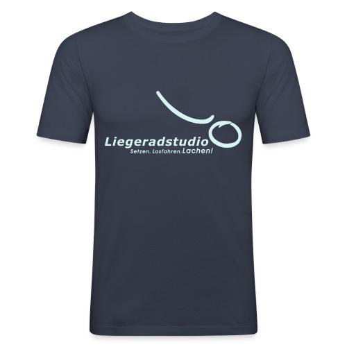 setzenlosfahrenlachen1 - Männer Slim Fit T-Shirt
