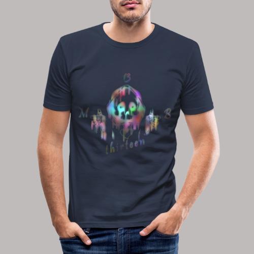 MB13 - skull - rainbow - thirteen - Men's Slim Fit T-Shirt