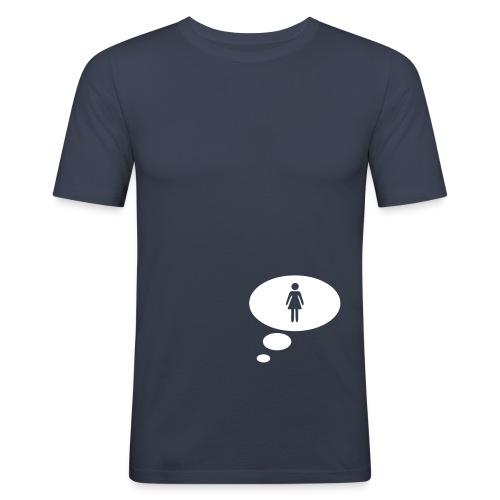 frau - Männer Slim Fit T-Shirt