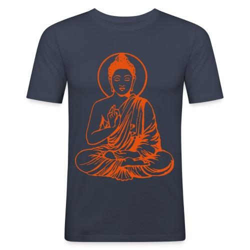 Buddha-Vektor-Outline - Männer Slim Fit T-Shirt