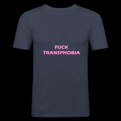 fuck transphobia - Obcisła koszulka męska
