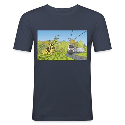 Raupe und Zug - Männer Slim Fit T-Shirt