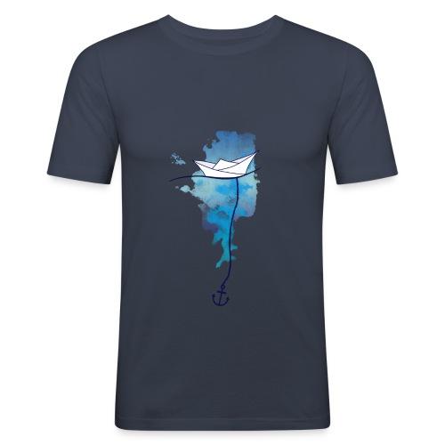 Papierschiff - Männer Slim Fit T-Shirt