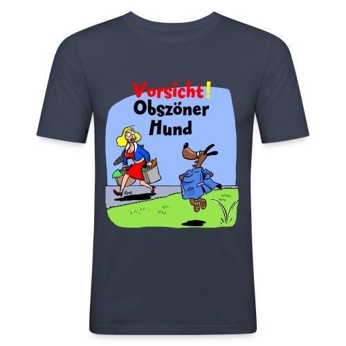 obszöner Hund - Männer Slim Fit T-Shirt