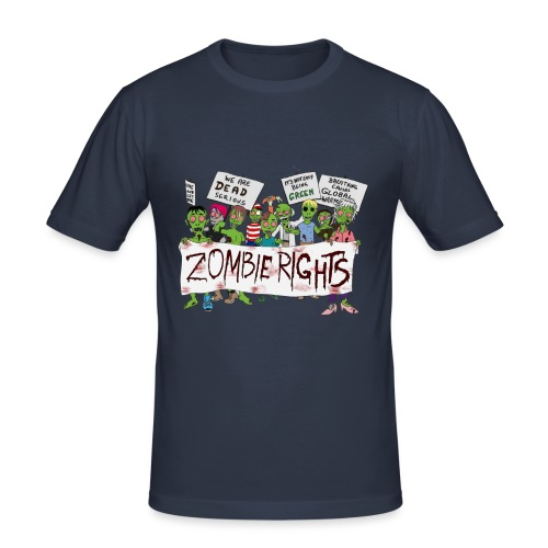 Zombie Rights Demo - Men's Slim Fit T-Shirt