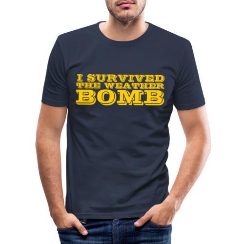 Weather Bomb - Men's Slim Fit T-Shirt