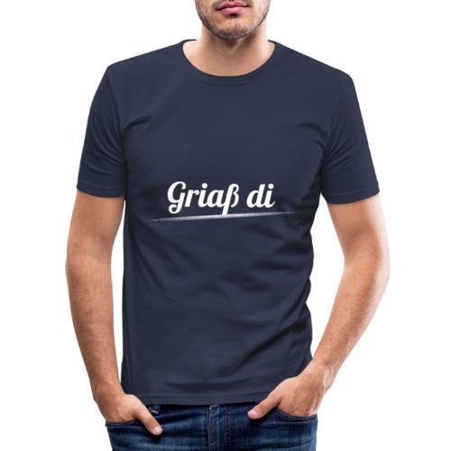 Griaß di - Grüße Dich Bayrisch Dialekt - Männer Slim Fit T-Shirt