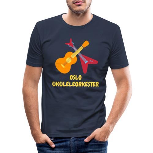 Oslo Ukuleleorkester - Slim Fit T-skjorte for menn
