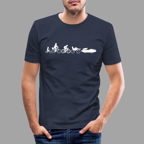 Bicycle evolution white Quattrovelo - Miesten tyköistuva t-paita