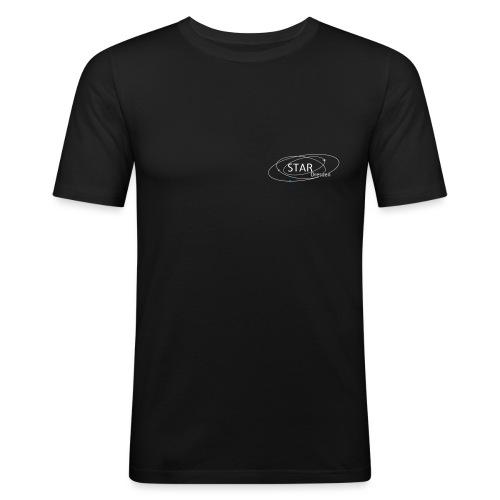 STAR-Logo mit bunten Himmelskörpern - Männer Slim Fit T-Shirt