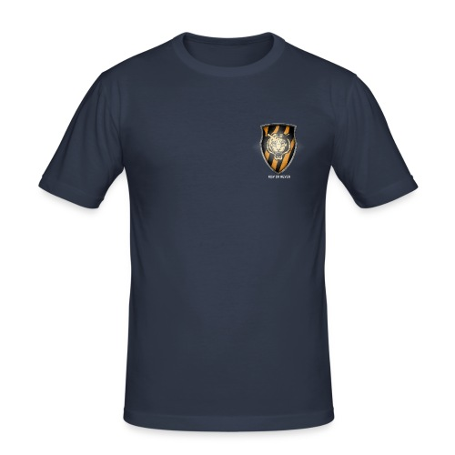 Tiger Plt Big Shield Whit - Men's Slim Fit T-Shirt