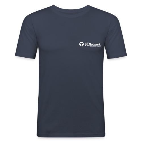 JCNetwork Merchandise weiß - Männer Slim Fit T-Shirt