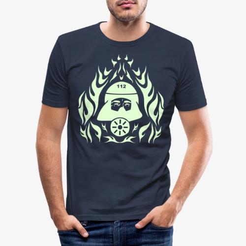 Atemschutz Flamme - Männer Slim Fit T-Shirt