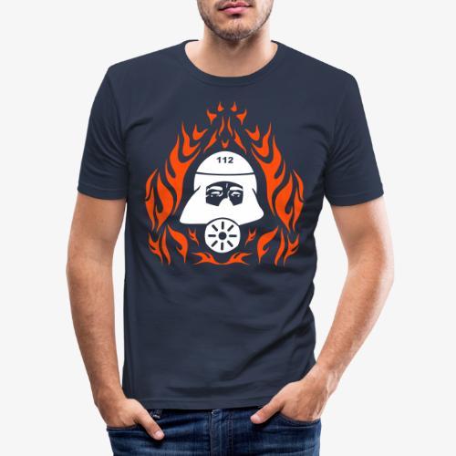 Atemschutz Flamme 2 - Männer Slim Fit T-Shirt