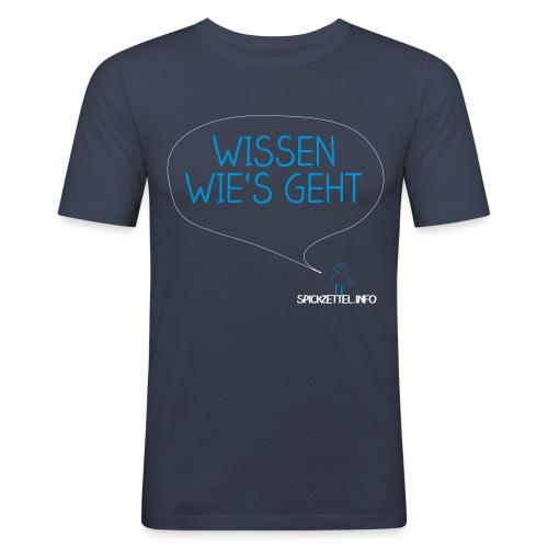 Wissen wie's geht - Männer Slim Fit T-Shirt
