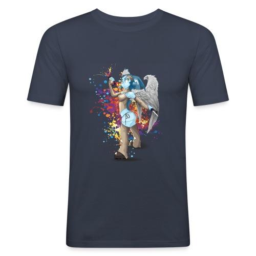 Splatch de Couleurs - T-shirt près du corps Homme