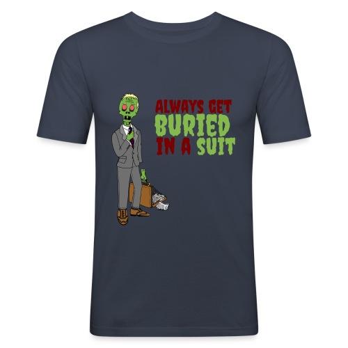 Buried in Suit - Men's Slim Fit T-Shirt