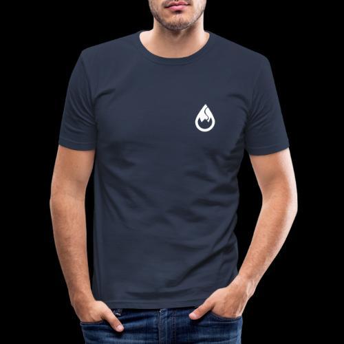 WS-Crew Tropfen-Logo weiß - Männer Slim Fit T-Shirt