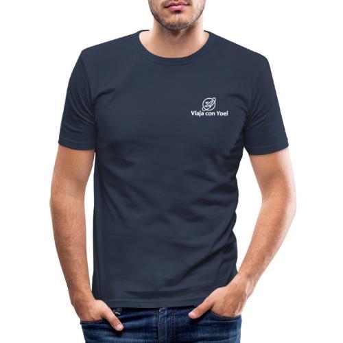 Viaja con Yoel White Logo - Camiseta ajustada hombre