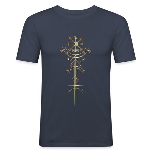 Vegvisir - Wikinger Kompass - Männer Slim Fit T-Shirt