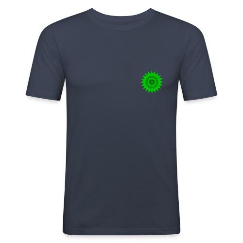 Grüne Sonne - Männer Slim Fit T-Shirt