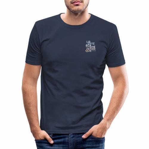 LIBERTE EGALITE PETANQUE clair - T-shirt près du corps Homme