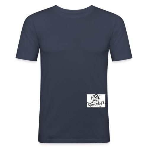 ricardo m logo black web jpg - Männer Slim Fit T-Shirt