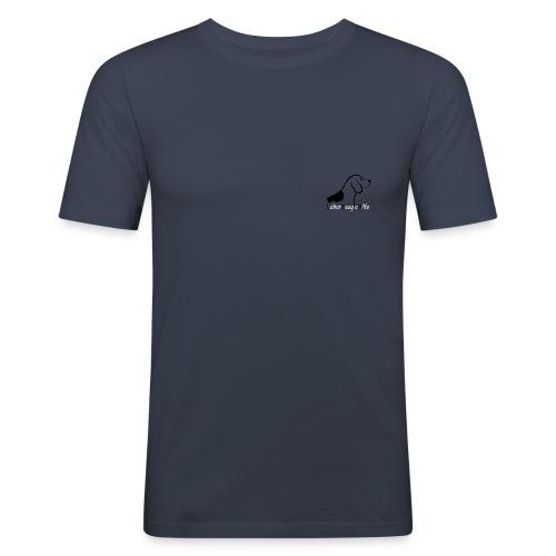 Laborbeaglehilfe Logo - Männer Slim Fit T-Shirt