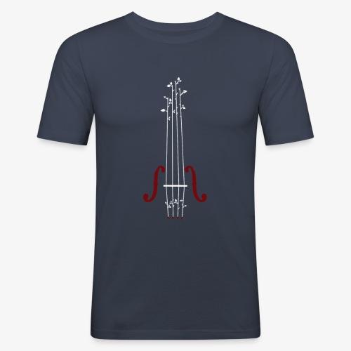 Viool Design - Mannen slim fit T-shirt