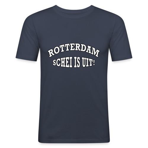 Rotterdam - Schei is uit - Mannen slim fit T-shirt