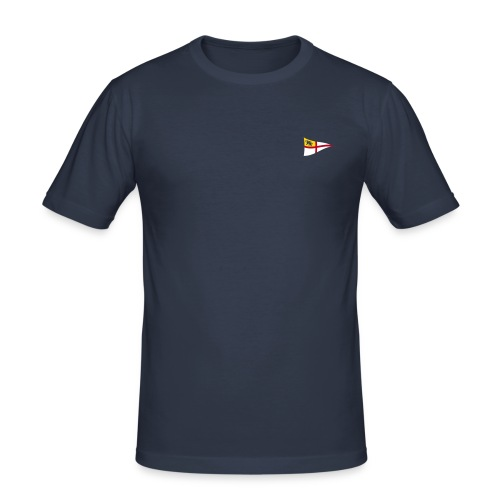 ROYC Logo 3 Farb Dunkel SIMPLE - Männer Slim Fit T-Shirt
