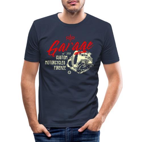 RR Garage Custom Motorcycles - Maglietta aderente da uomo