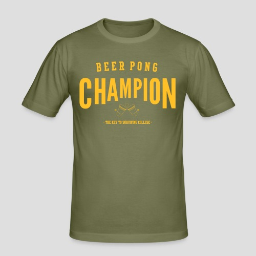Beerpong Champion T-Shirt - Männer Slim Fit T-Shirt
