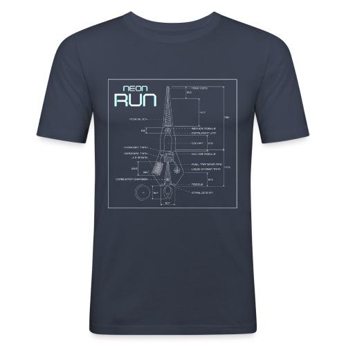 NeonRun - Mannen slim fit T-shirt