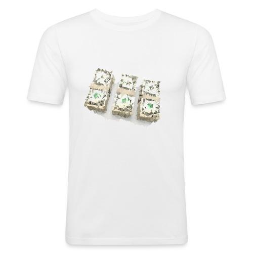 triangulated image png - Männer Slim Fit T-Shirt