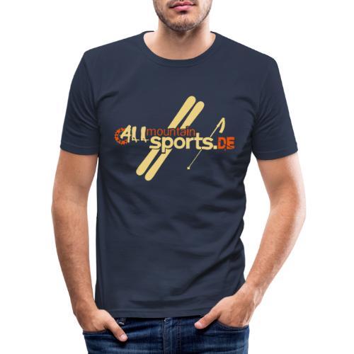 ALLmountainSPORTSde Logo - Männer Slim Fit T-Shirt