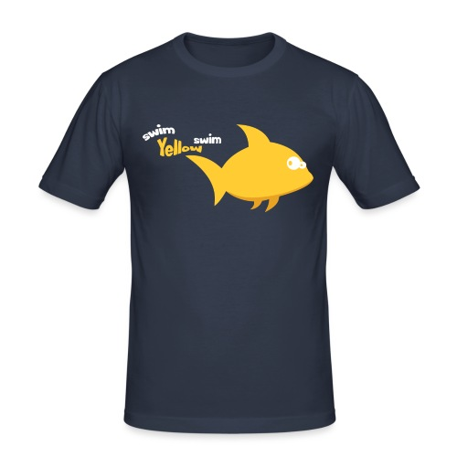 Yellow - Mannen slim fit T-shirt