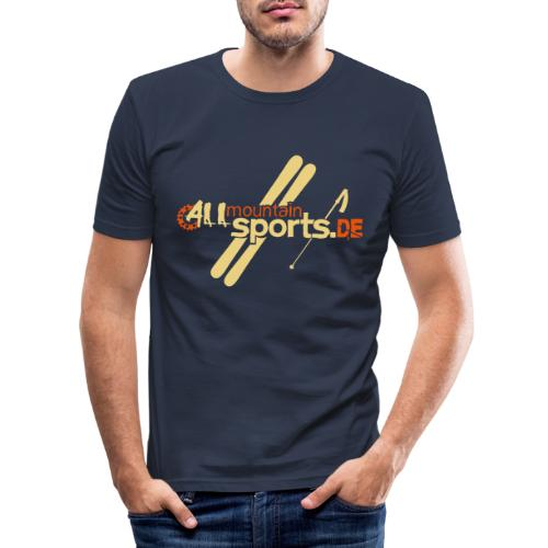 ALLmountainSPORTSde Logo - Männer Slim Fit T-Shirt