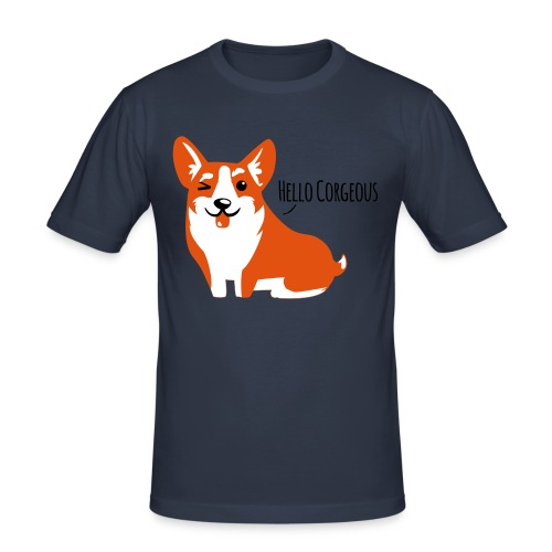 Corgi Love - Hell - Männer Slim Fit T-Shirt