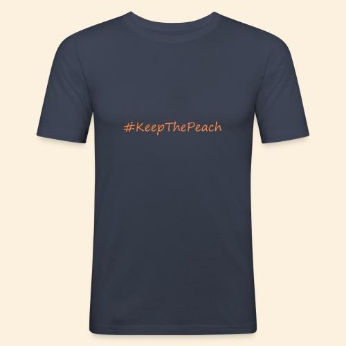 Hashtag KeepThePeach - T-shirt près du corps Homme