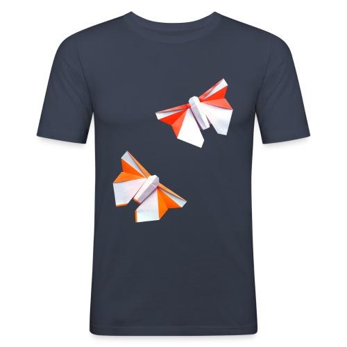 Butterflies Origami - Butterflies - Mariposas - Men's Slim Fit T-Shirt
